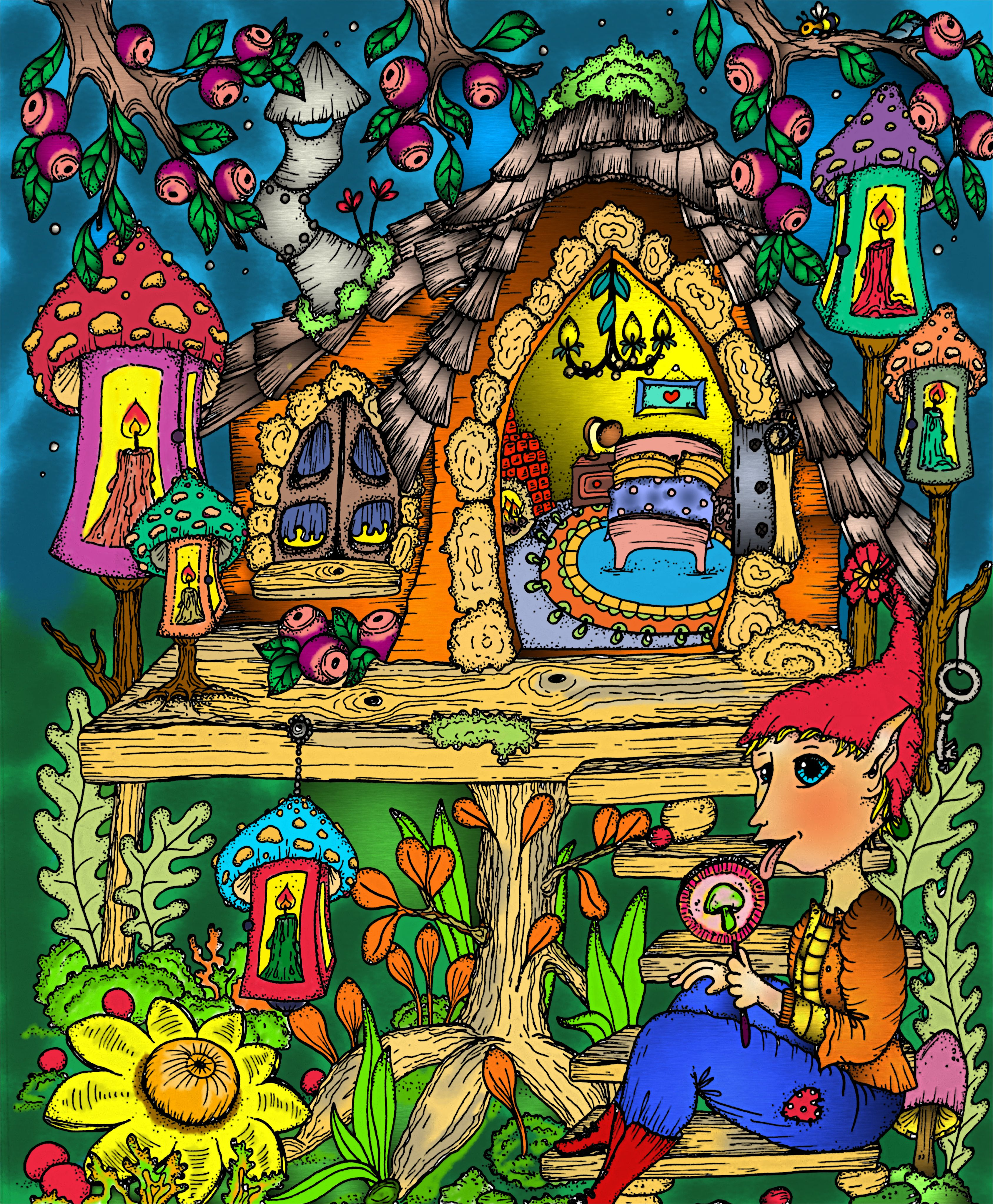 Book Fairy Miracles By Klara Markova Digitally Colored Using Pigment App On Ipad Pro Coloring Book Pages Coloring Books Fairy