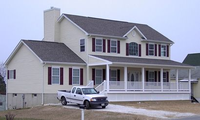 Two Story Homes With Garage Grey Pennwest Custom Two