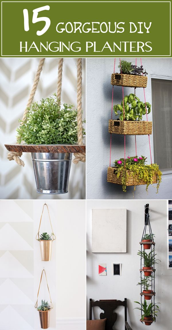 15 Gorgeous Diy Hanging Planter Ideas To Beautify Your