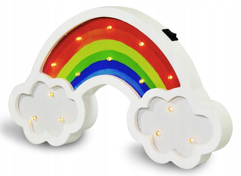 Lampka Drewniana Nocna Tecza Led Dla Dzieci Pacifier Children