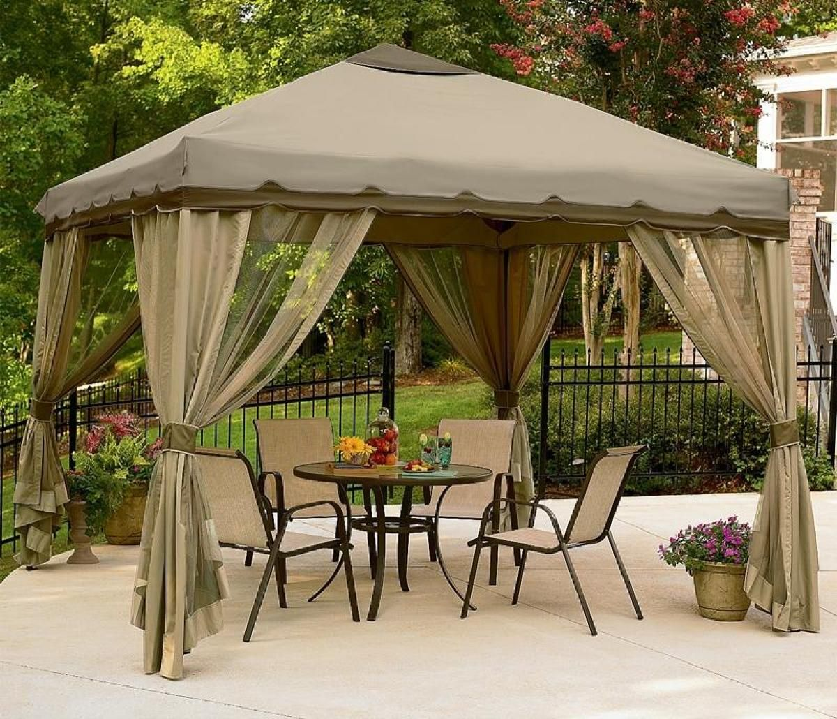 Garden Furniture Gazebo awesome gazebo canopy decors with transparent curtains set as well