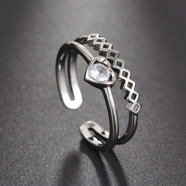 Silver Tear Drop Ring Adjustable Water Thumb Droplet Wrap