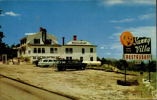 An Old Postcard Of Sunny Villa Ossipee Nh It Still Exists In Some Form I Think After Many Ownership Changes My Ossipee Old Postcards Family Restaurants