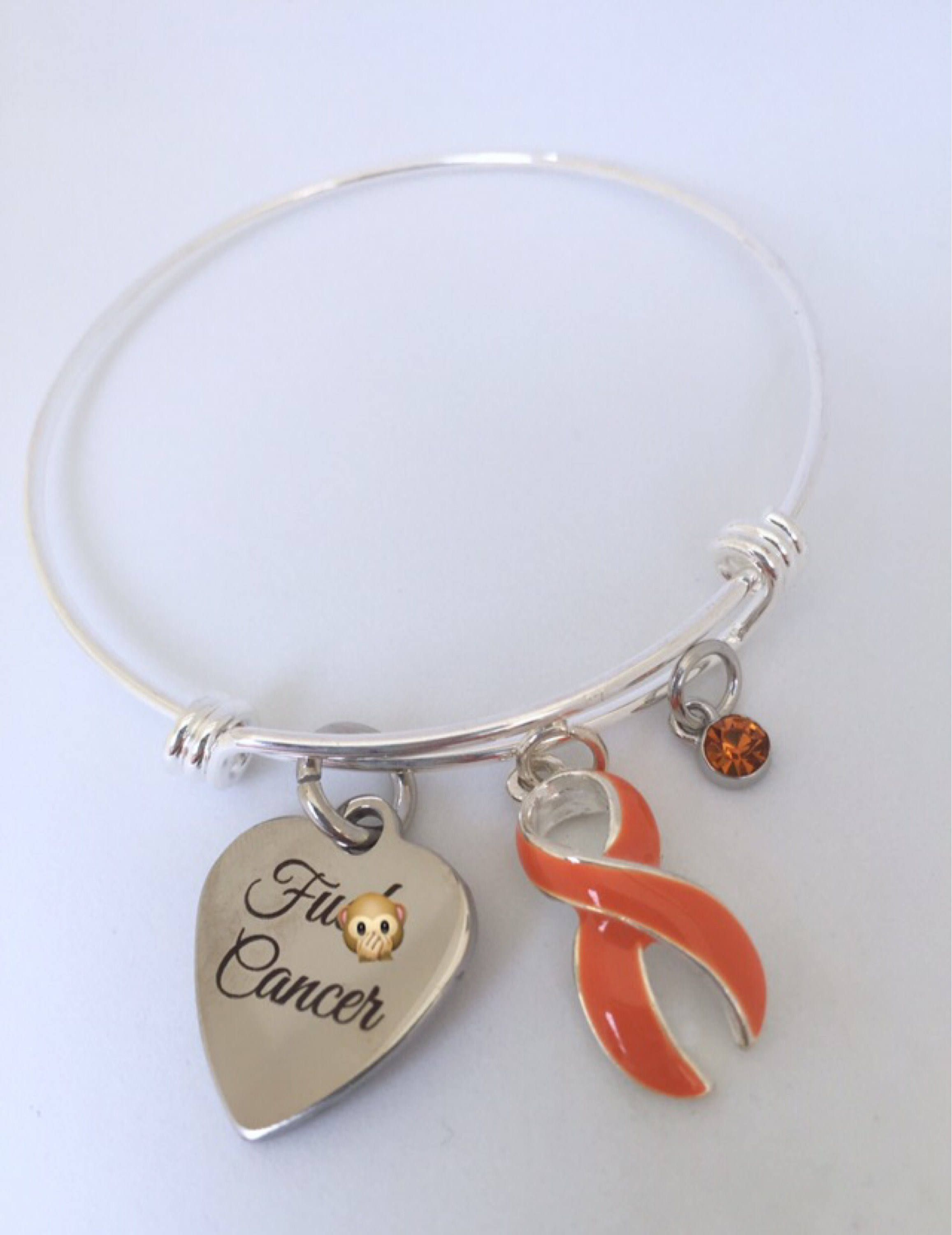 bracelet leukemia awareness fundraising by hollow amazon kidney campaign hidden dp jewelry in com or orange