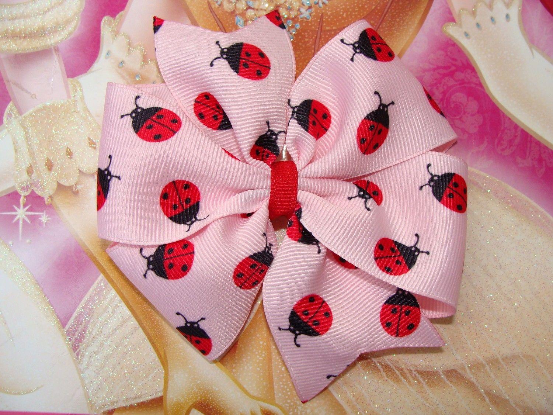 Ladybug large pinwheel hair bow hair clip via etsy hair