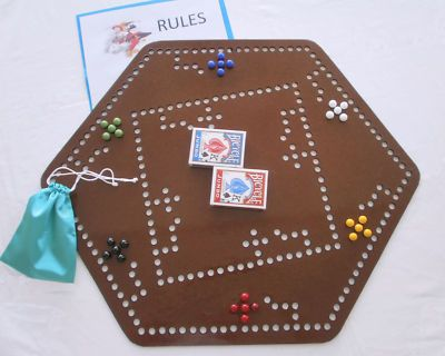Joker Pursuit Cards And Marbles Board Game