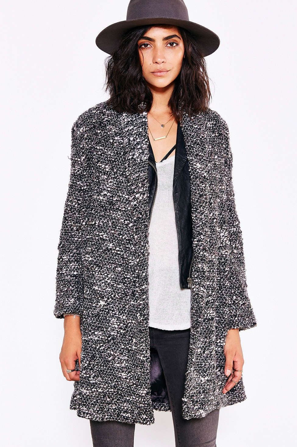 UNIF Open-Front Cozy Coat - Urban Outfitters