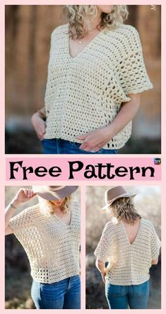 Stylish Crochet Summer Top - Free Patterns #crochetclothes