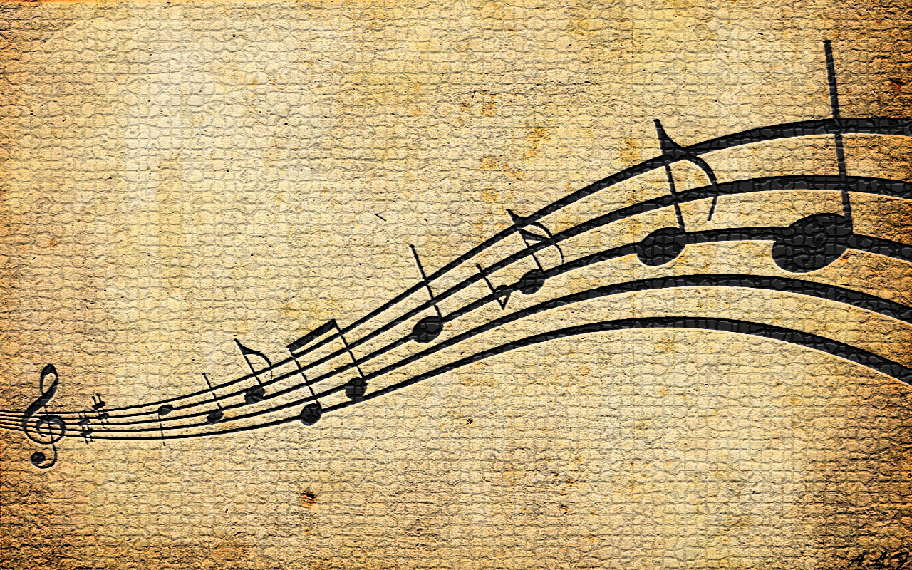 Awesome Music Notes Wallpaper Music Notes Background Vintage Music Music Wallpaper