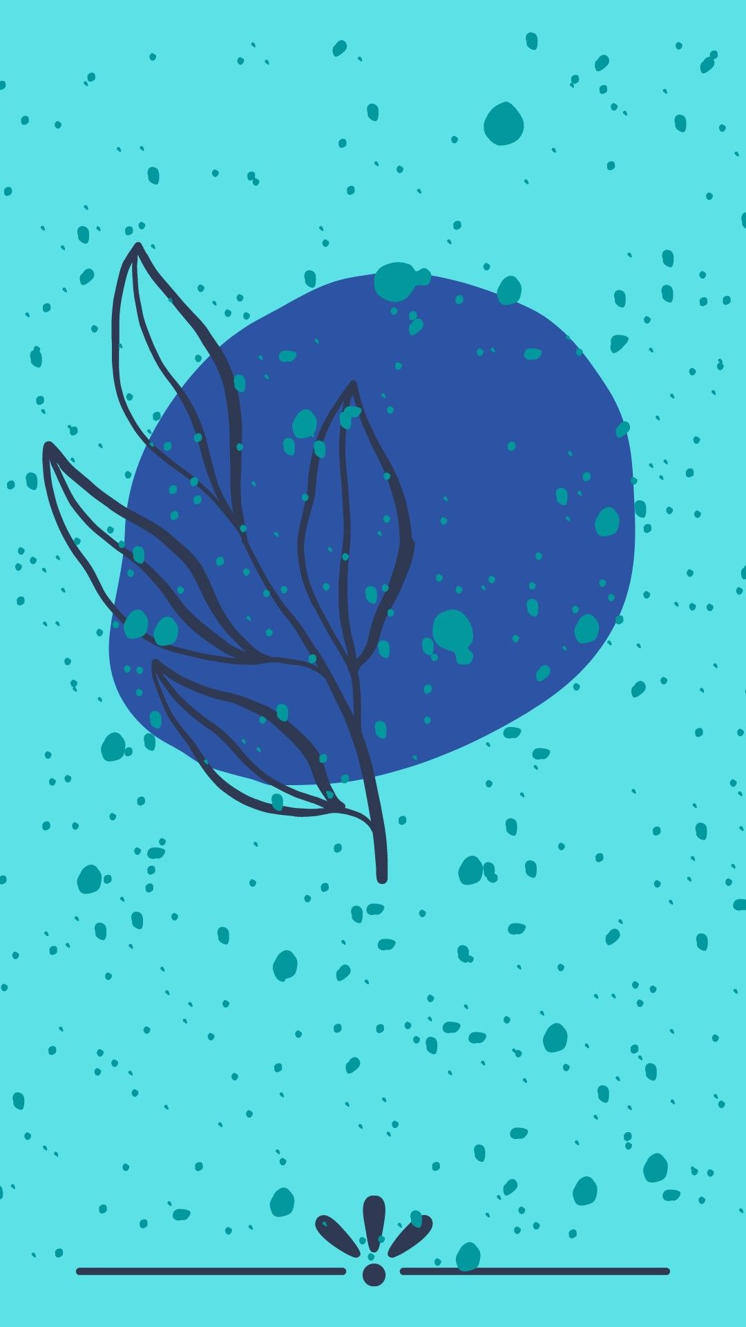 Blue color wallpaper