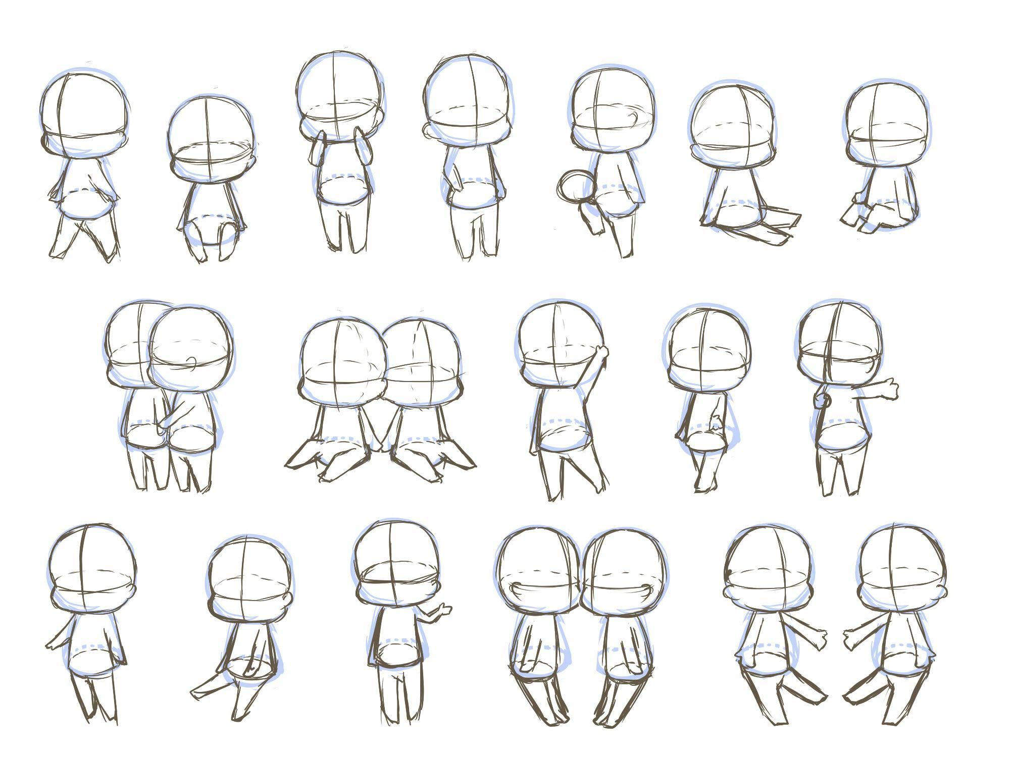 Chibi Drawing Reference And Sketches For Artists In 2020 Chibi Sketch Chibi Drawings Chibi Body