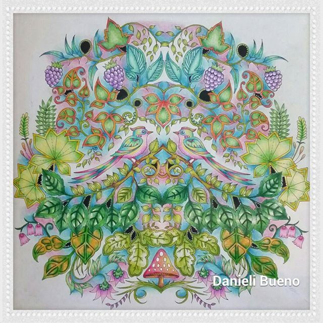 Danieli Vivercomarte Cristina Bueno On Instagram Coloring BooksColouringJohanna BasfordEnchantedForestsGardenVintage