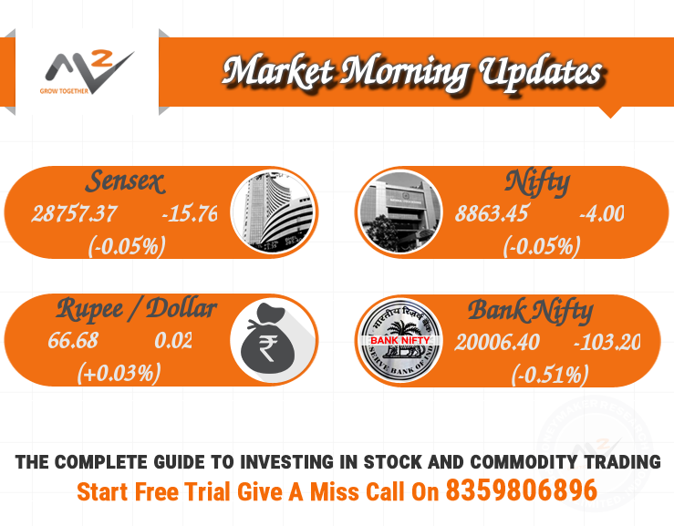 The BSE Sensex and NSE Nifty opened on a flat note with