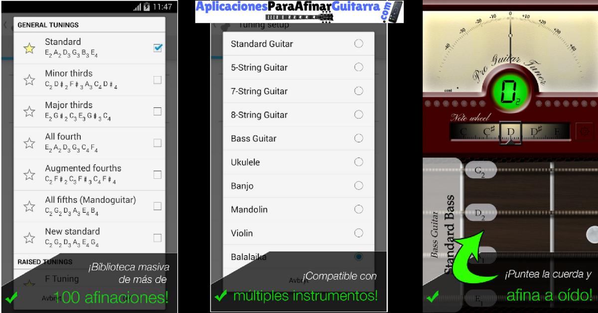 Afinador De Guitarra Pro Guitar Tuner Apps Guitarras Windows Phone