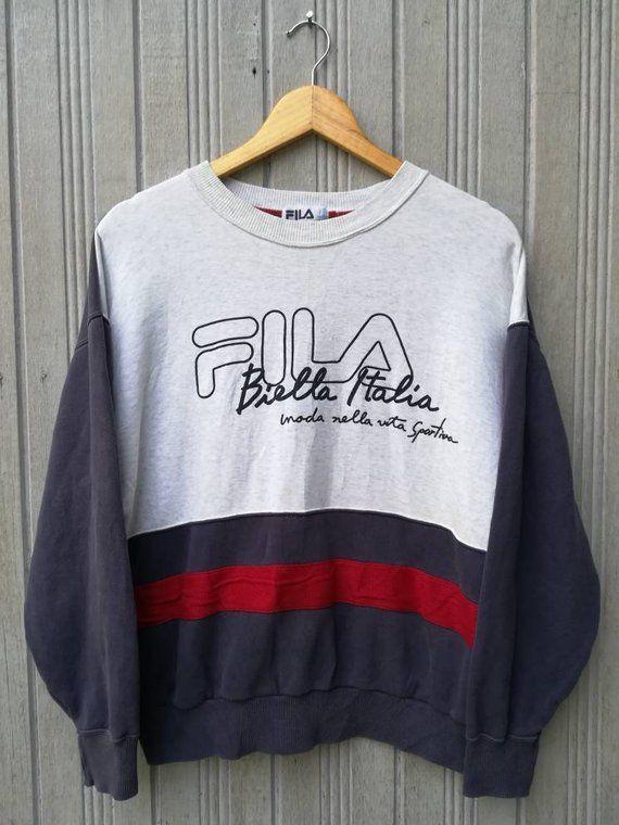 de8e42169992e Vintage FILA Biella Italia Sweatshirt Used Clothing, Conditioner,  Sweatshirt, Italia