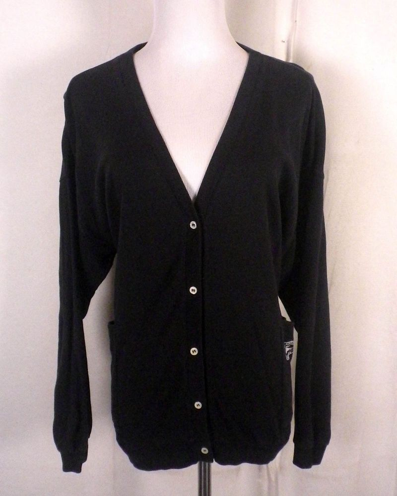 vtg 80s ladies Izod Lacoste Navy Blue Light Cotton Sweater ...