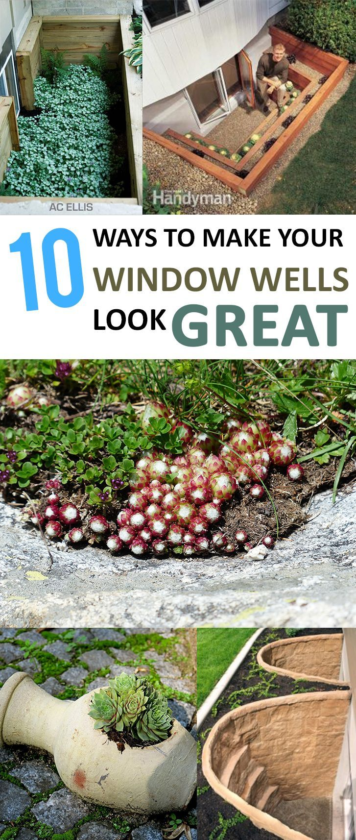 Window well decoration ideas   ways to make your window wells look great   my secret garden