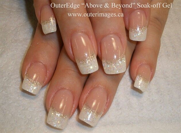 French nails with glitter google search nails pinterest gel nail art prinsesfo Choice Image