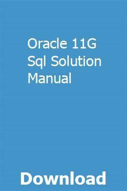 Oracle 11G Sql Solution Manual | specinenseo | Truck repair