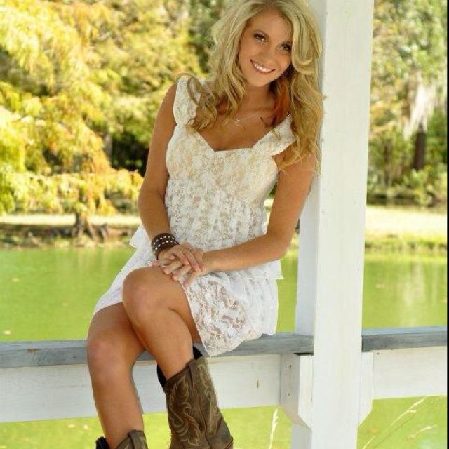 I would love to get a lace dress and wear my cowgirl boots ...