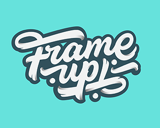 logo design cursive lettering