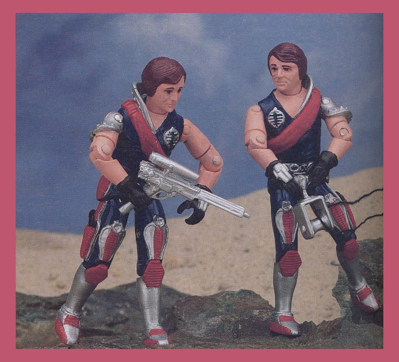 GI Joe Tomax and Xamot Carded Acrylic Display Case