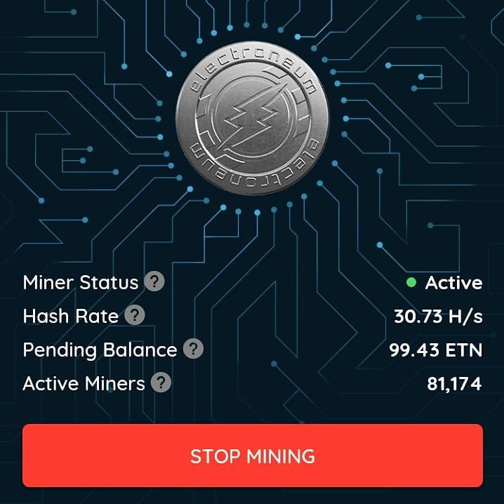 How much ETN have you mined this week? . . . #Electroneum #ETN #free #crypto #cryptocurrency #bitcoin #btc #ethereum #eth #litecoin #games #minergate #nicehash #minerfarm #profit #blockchain #wealth #money #investment #freedom #love #america
