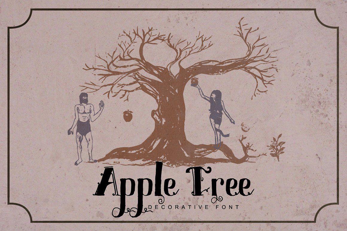 Apple Tree Decorative Font Decorative font, Creative