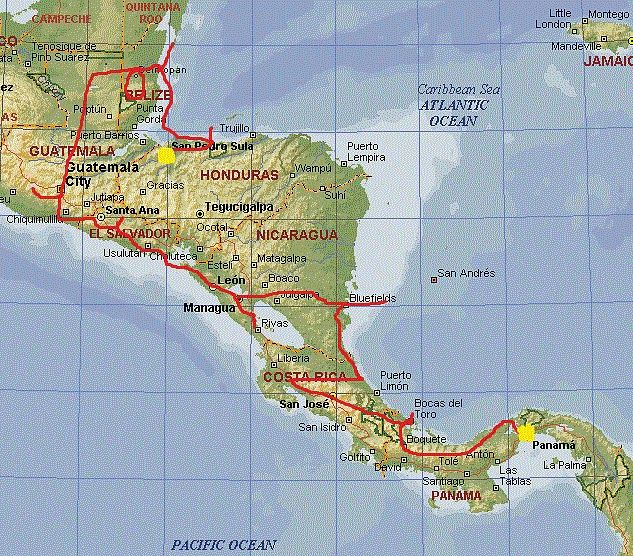 Our Backpacking Route Through Central America Adventure Time