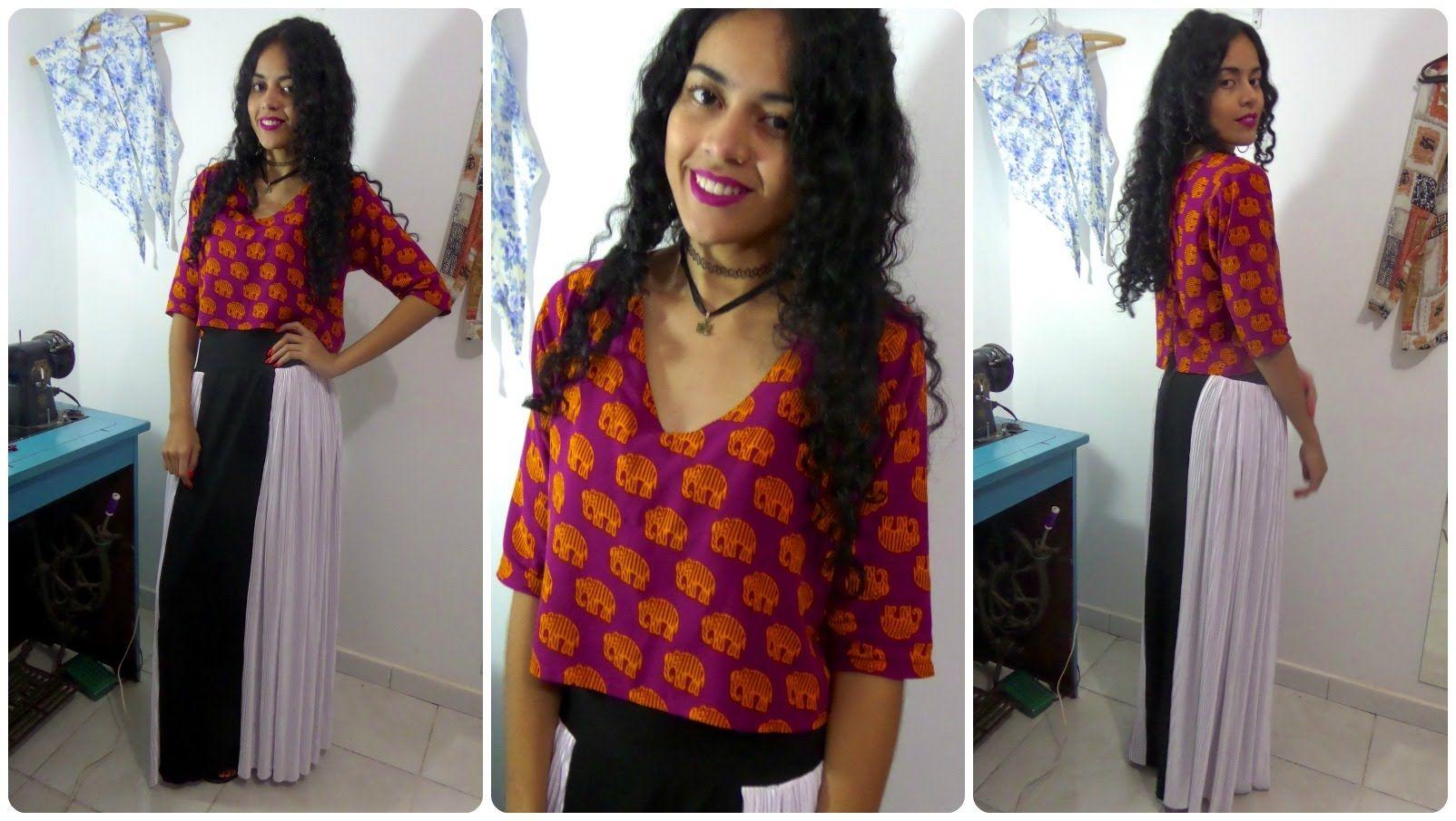 Costure uma blusa em 10 minutos Alana Santos Blogger