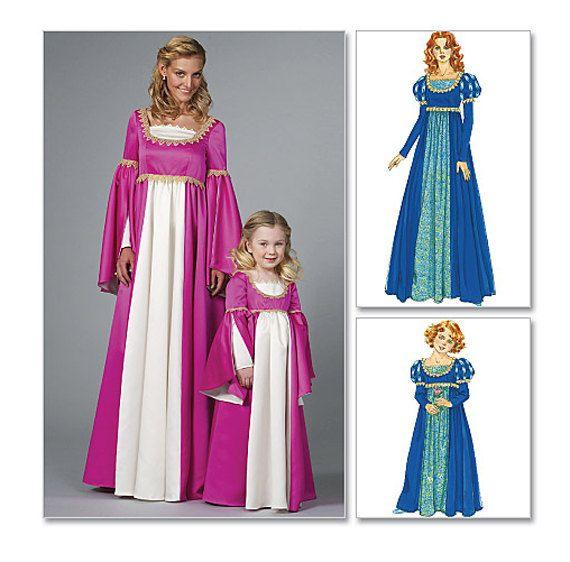 RENAISSANCE DRESS PATTERNS Medieval Dress Costume Historic ...