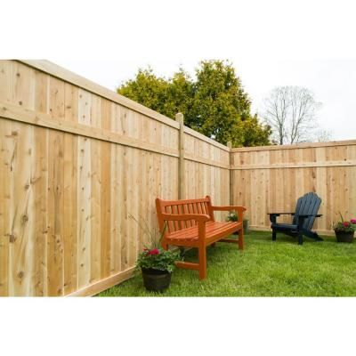 homey inspiration home depot garden fencing. Add beauty and privacy to your home with the 6 ft  H x 8 W Eastern White Cedar Good Neighbor Privacy Fence Panel Made of prevent rot or decay