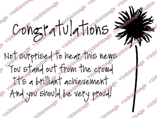 Visible Image Congratulations verse stamp Card Verses More than