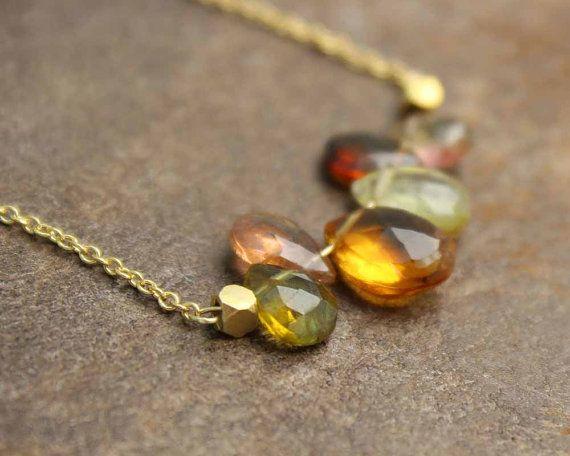 Barra de la piedra preciosa multi collar.  por MimsyBorogroveDesign