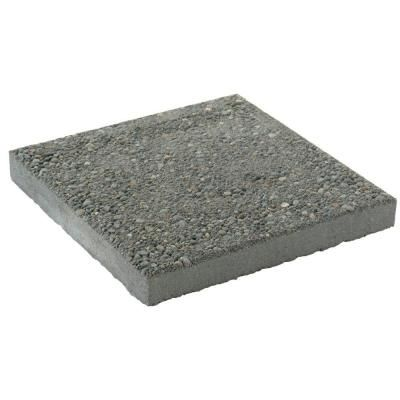 Mutual Materials 16 In X 16 In Square Exposed Aggregate Concrete Step Stone Pv05016sqgre The Home Depot Step Stones Concrete Steps Hardscape