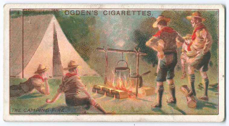 Scouting was so famous that there were even images of it on cigarette packages. (can't imagine that nowadays...)