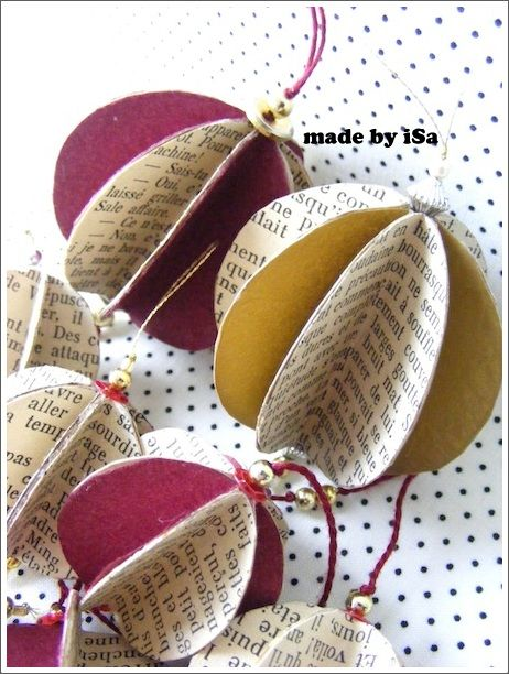 diy d co no l boules guirlandes r cup 39 made by isa music score christmas music and xmas. Black Bedroom Furniture Sets. Home Design Ideas