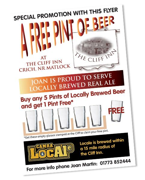 Wild Ideas And Client Flyer Design For A Beer Promotion At The Cliff Inn