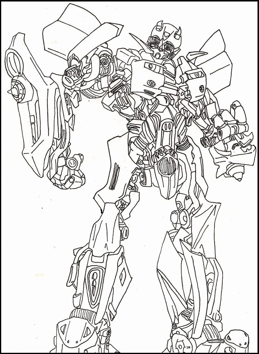 Bumblebee Transformer Coloring Page Fresh Bumble Bee Transformers Coloring Picture Fo Transformers Coloring Pages Bee Coloring Pages Coloring Pictures For Kids