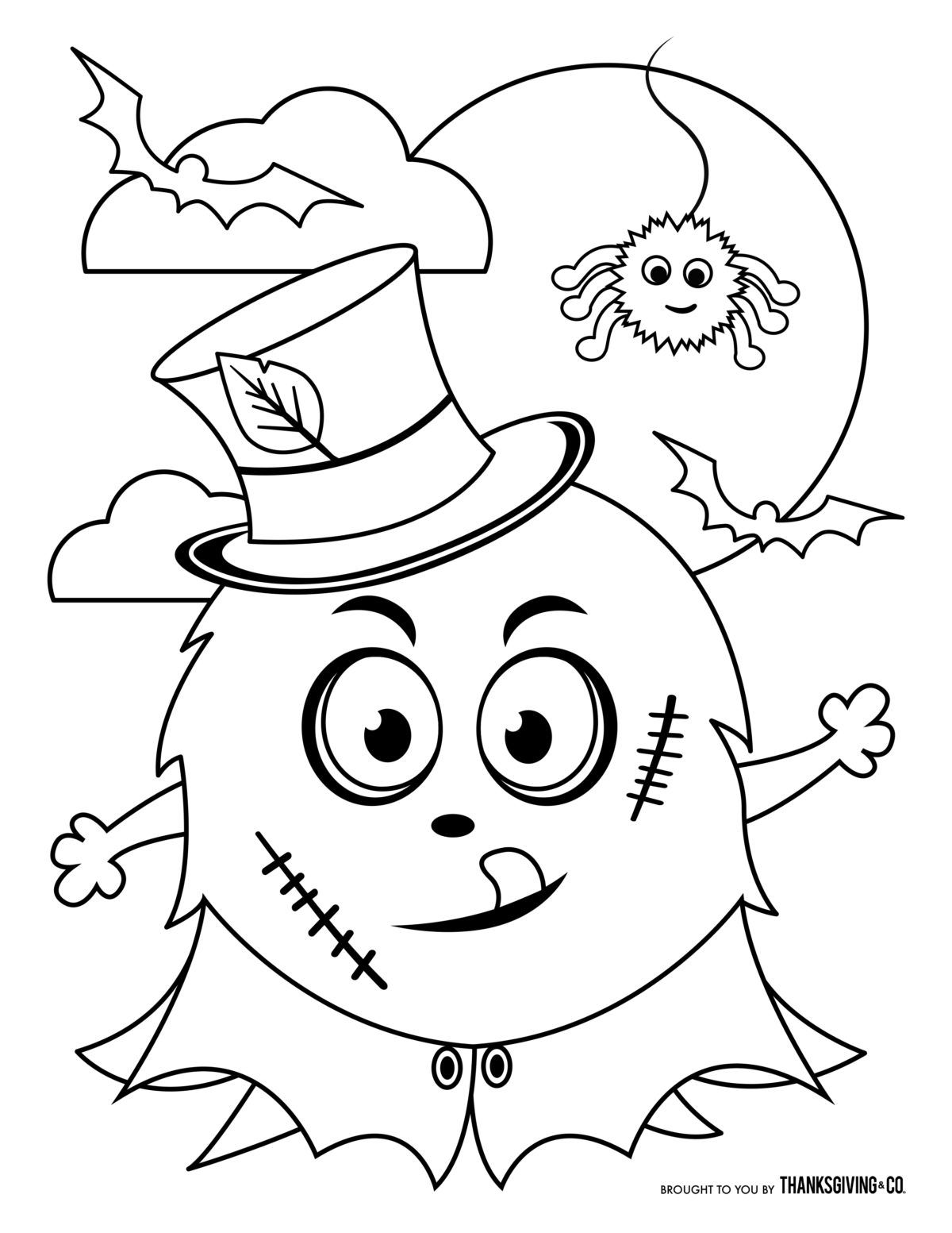 Free Halloween Coloring Pages For Kids Or For The Kid In You Monster Coloring Pages Free Halloween Coloring Pages Halloween Coloring Pages