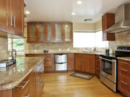 kitchens with oak cabinets and stainless steel appliances benjamin