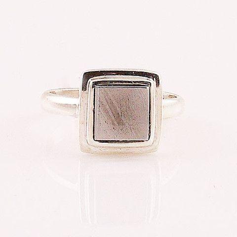 Gibeon Meteorite Sterling Silver Ring – Keja Designs Jewelry