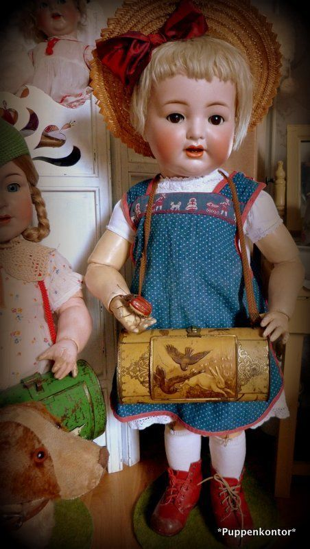 Für die Porzellankopf-Puppe ***Antike Botanisiertrommel***Schmetterlingsbüchse in Antiquitäten & Kunst, Antikspielzeug, Puppen & Zubehör   eBay