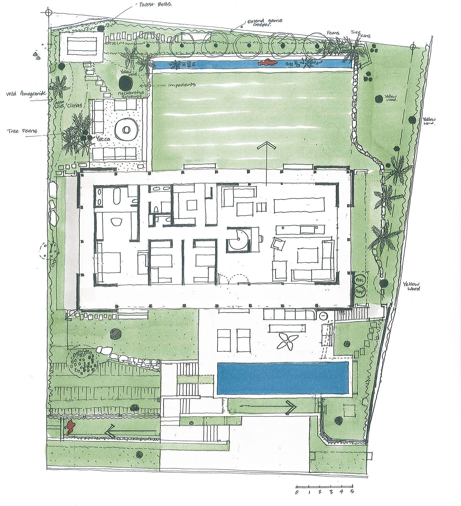 Gallery Of Invermark House Saota 18 Ground Floor Plan Floor Plans Landscape Plans