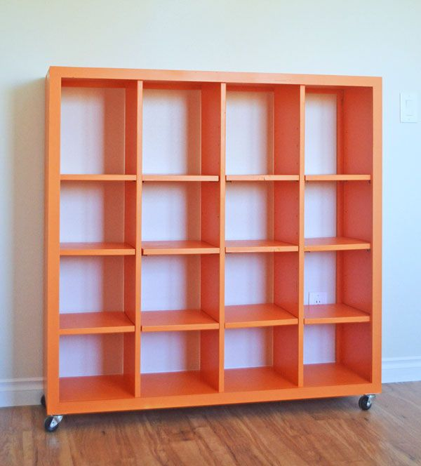 Ana White Build A 4x4 Rolling Cube Shelf Adjustable