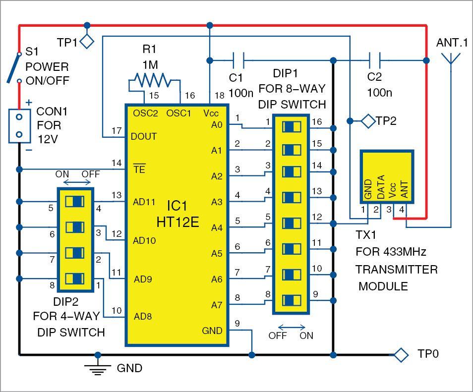 Simple Radio Frequency  Rf  Based Code Lock