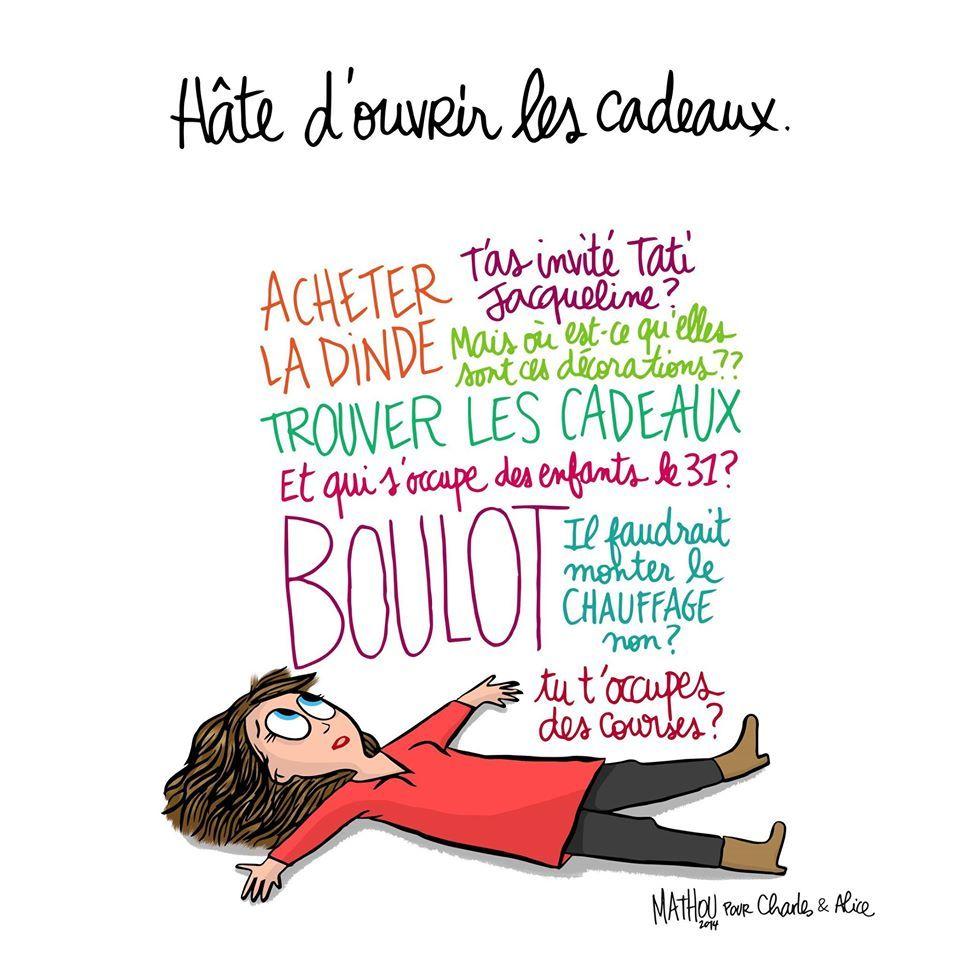 Illustration par Crayon d'Humeur pour Charles & Alice : Et vous, ça va ? #Noel | Noël humour ...