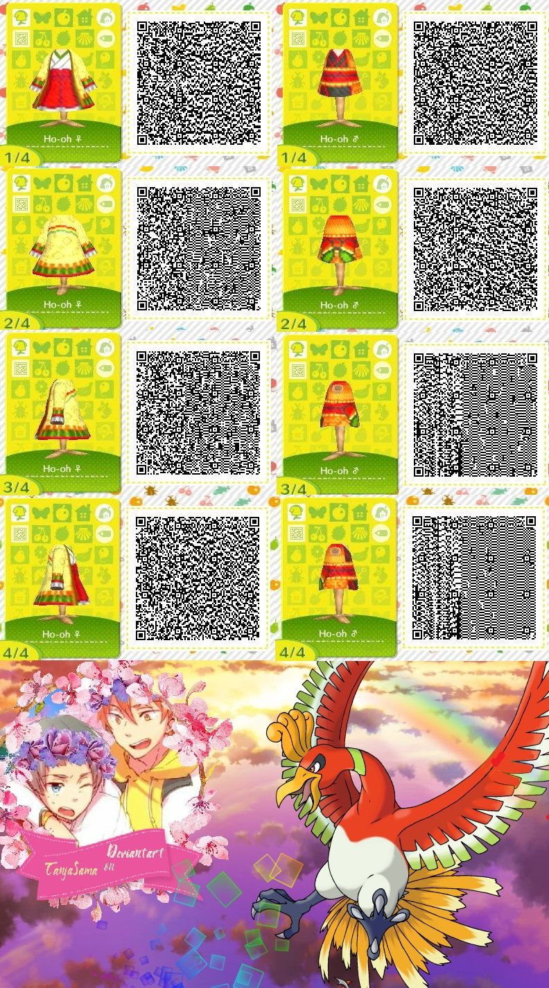 Ho Oh Qr Outfit For Acnl Achhd Made By Shining S Pphire