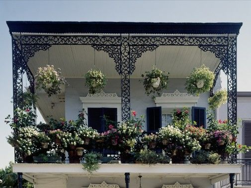 Cool french balcony ideas with lots of flower pots 505x378 for French balcony design