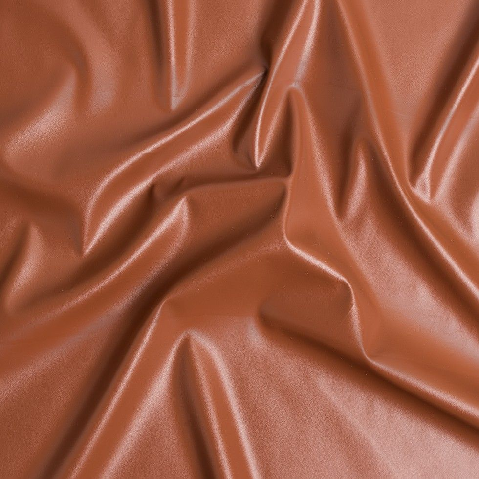 Cognac Stretch Faux Leather Faux Leather Fabric Faux Leather Mood Fabrics